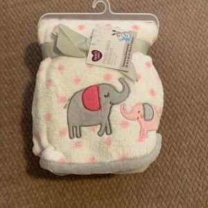Other - Plush baby blanket with elephants